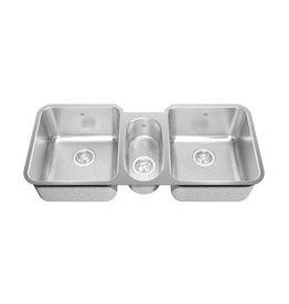 Kindred Kindred Triple Bowl Undermount Sink 18 Gauge Crease Bowl Bottoms KST1UA/9D