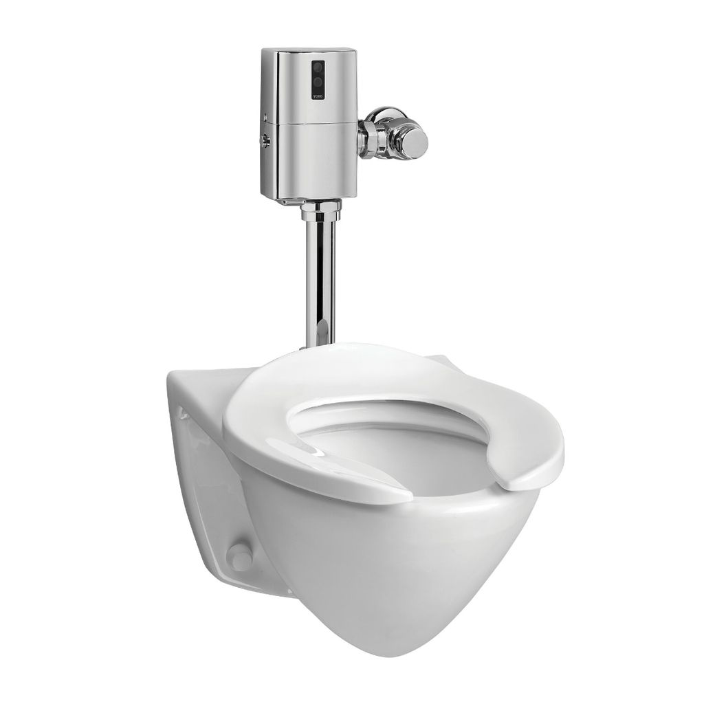 Toto CT708EG Commercial Flushometer Wall Hung Toilet ADA - Home ...