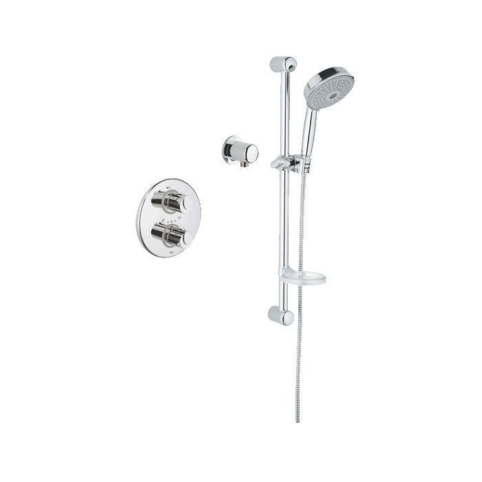 Grohe 117168 Basic THM Single Function Shower Kit - Home Comfort Centre