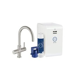 Grohe Grohe 31251DC1 Blue Chilled and Sparkling Super Steel