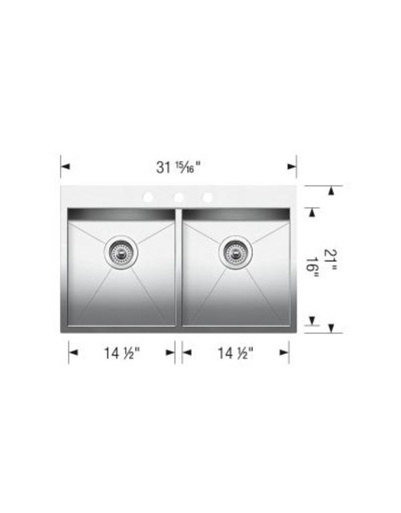 Blanco Blanco 401647 Quatrus Drop In 2.0 3 Hole