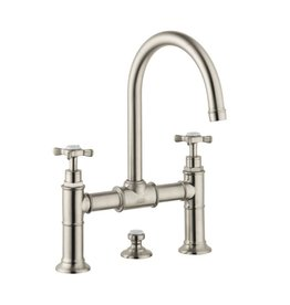Hansgrohe Hansgrohe 16510821 Axor Montreux Widespread Faucet Bridge Model Brushed Nickel