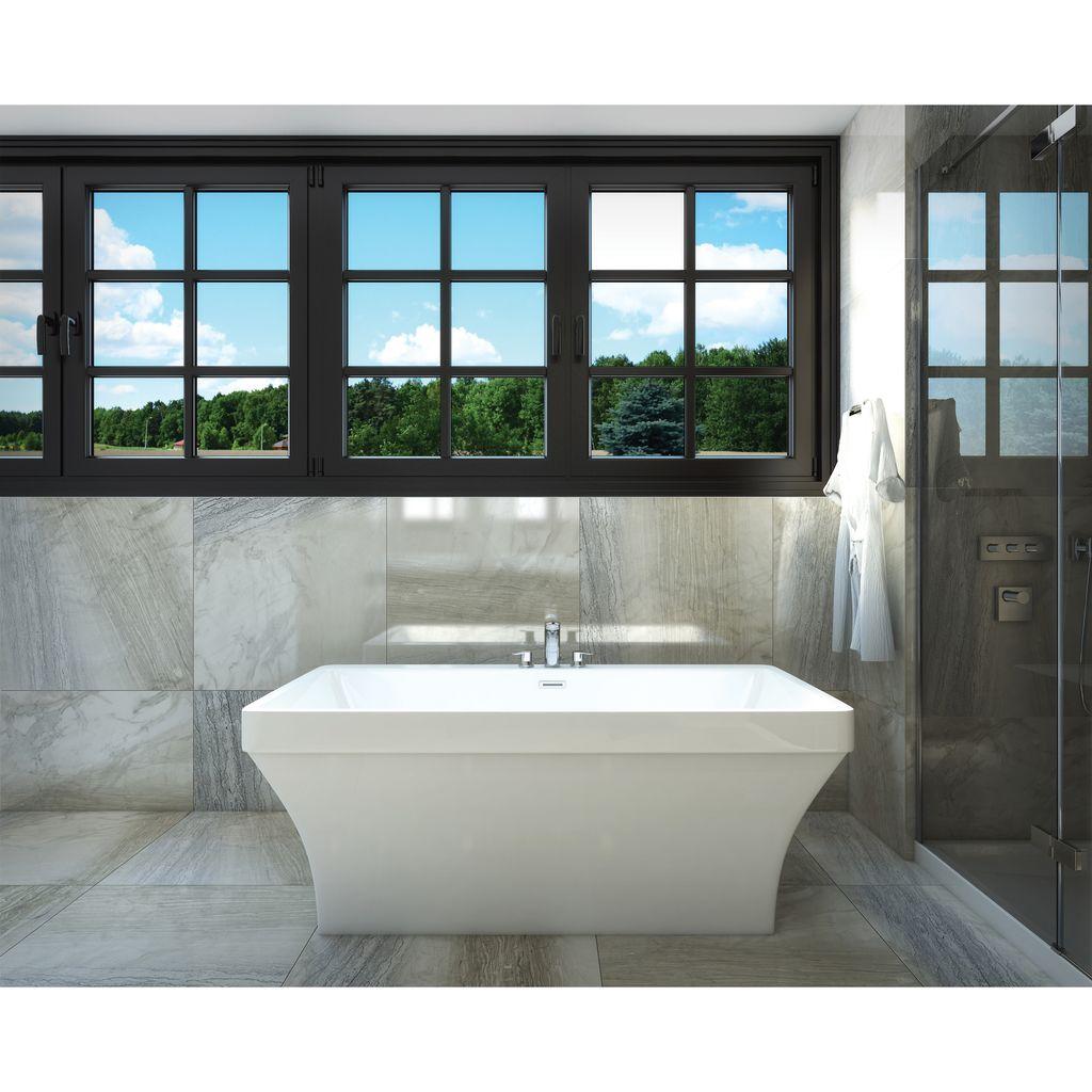 "Mirolin CF2005 Cruz 60"" x 33"" Freestanding Tub - Home Comfort Centre"