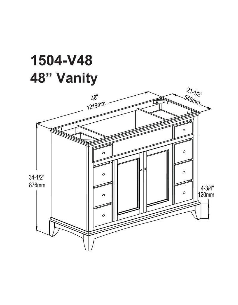 "Fairmont Designs Fairmont Designs 1504-V48 Smithfield 48"" Vanity - Med Gray"