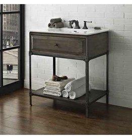 "Fairmont Designs Fairmont Designs 1401-VH30 Toledo 30"" Open Shelf Vanity - Driftwood Gray"