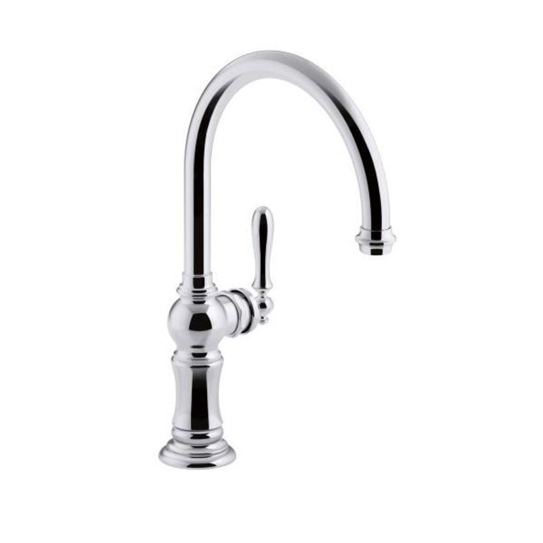 Kohler K99263 Artifacts Single Hole Kitchen Faucet Swing Spout