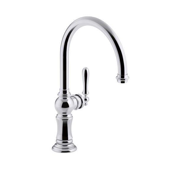 Kohler Kohler 99263 CP Artifacts Single Handle Kitchen Sink Faucet With  14 11 ...