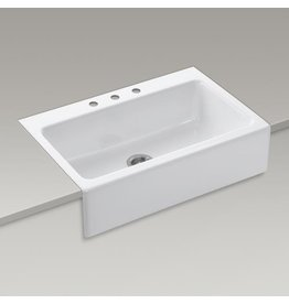 Kohler Kohler K6546 Dickinson 33 x 22 Tile-in Single Bowl Kitchen Sink