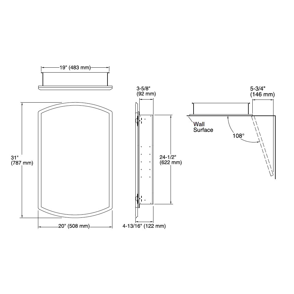 ... Kohler Kohler KCBCLC2031 Bancroft 20W X 31H Aluminum Single Mirror Door Medicine  Cabinet