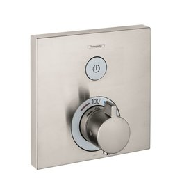 Hansgrohe Hansgrohe 15762821 ShowerSelect Square Thermostatic 1 Function Trim Brushed Nickel