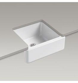 Kohler Kohler 5665-0 Whitehaven Self-Trimming 23-1/2 X 21-9/16 X 9-5/8 Under-Mount Single-Bowl Sink With Tall Apron