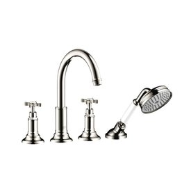 Hansgrohe Hansgrohe 16544831 Axor Montreux 4 Hole Roman Tub Set Polished Nickel