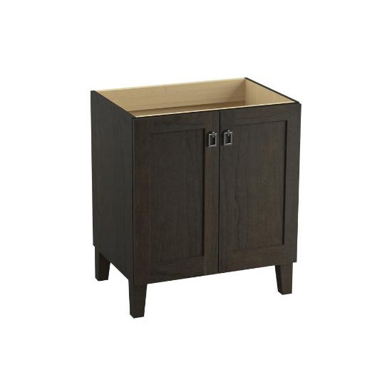 kohler k99528 poplin 30 vanity furniture legs 2 doors - home comfort 30 Vanity Cabinet