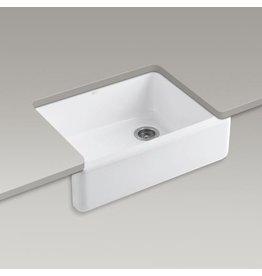 Kohler Kohler 6487-0 WhitehavenSelf-Trimming 29-11/16 X 21-9/16 X 9-5/8 Under-Mount Single-Bowl Kitchen Sink With Tall Apron