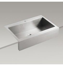 Kohler Kohler 3942-1-NA Vault 35 x 24 Topmount Single Kitchen Sink Apron