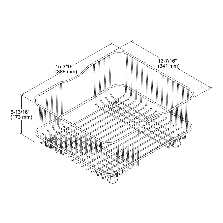 kohler k3277 coated wire rinse basket