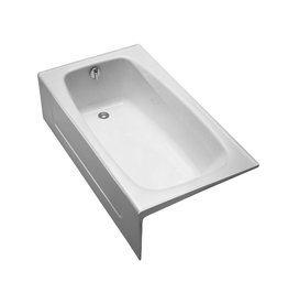 Toto TOTO FBY1525LP01 Enameled Cast Iron Bathtub Left Hand Drain