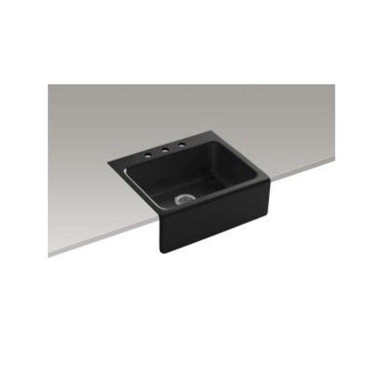Kohler K6573 Alcott 25 X 22 Tile In Single Kitchen Sink A Front 3 Holes Home Comfort Centre