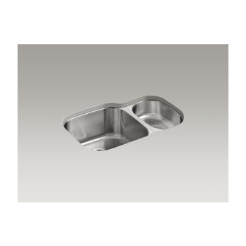 Kohler K3355 Undertone 30 X 20 Undermount Double Bowl Kitchen Sink