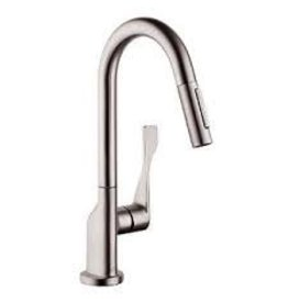 Hansgrohe Hansgrohe 39836801 Axor Citterio Pull Down Prep Kitchen Faucet Steel Optik