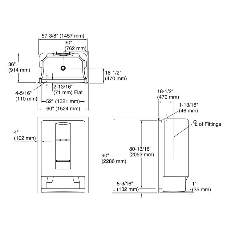 Kohler K1688 Sonata 5 One Piece Shower With High Dome Ceiling - Home ...