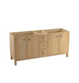 Kohler Kohler 99512-LGSD-1WF Jacquard 72 Bathroom Vanity Cabinet With Furniture Legs 4 Doors And 3 Drawers Split Top Drawer