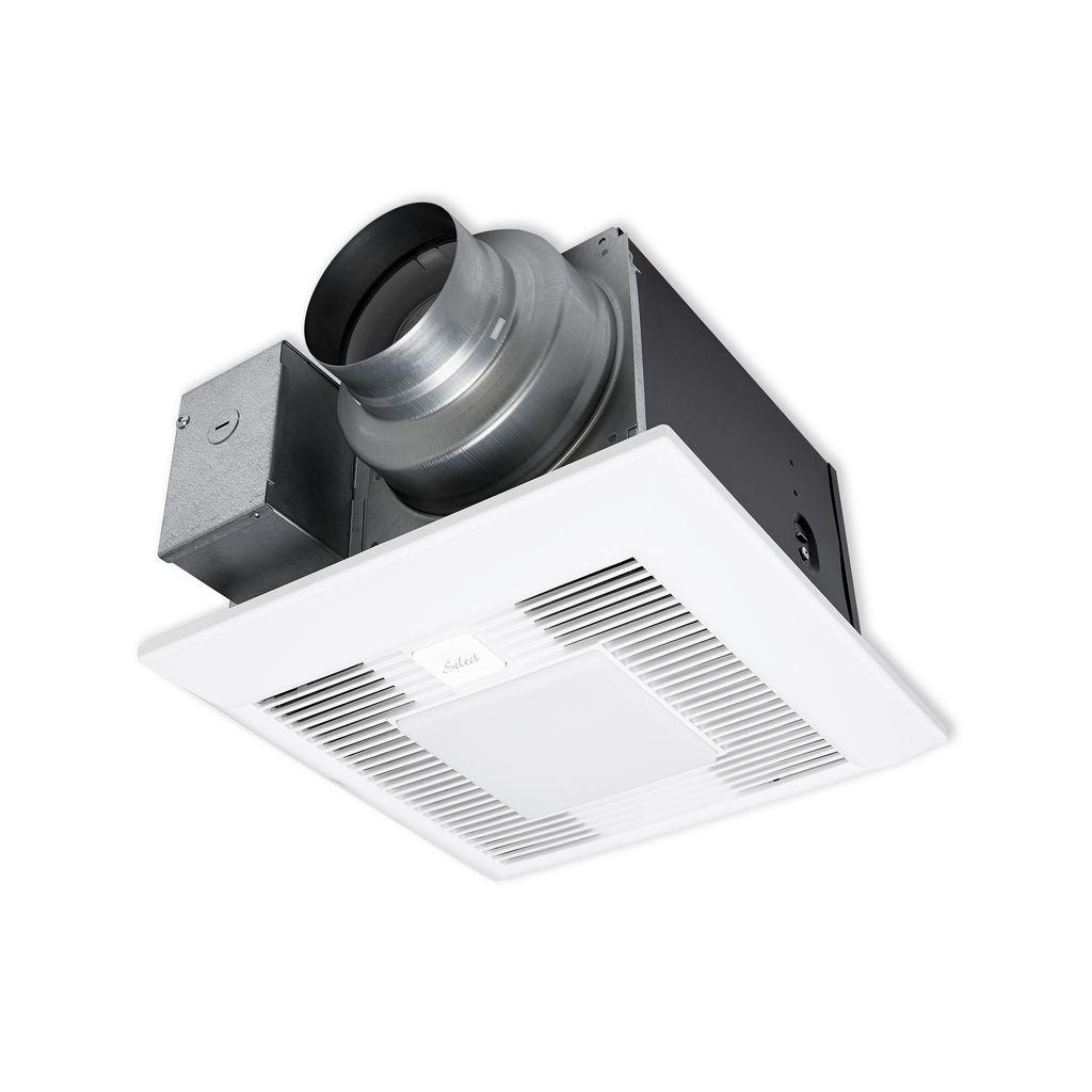 Panasonic Whisperrecessed Led Bathroom Fan With Led Light 80 Cfm: Panasonic FV-05-11VKSL1 WhisperGreen Select 50-80-110 CFM