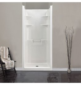 Mirolin Mirolin MEL3 Melrose 3 One Piece Shower Stall White