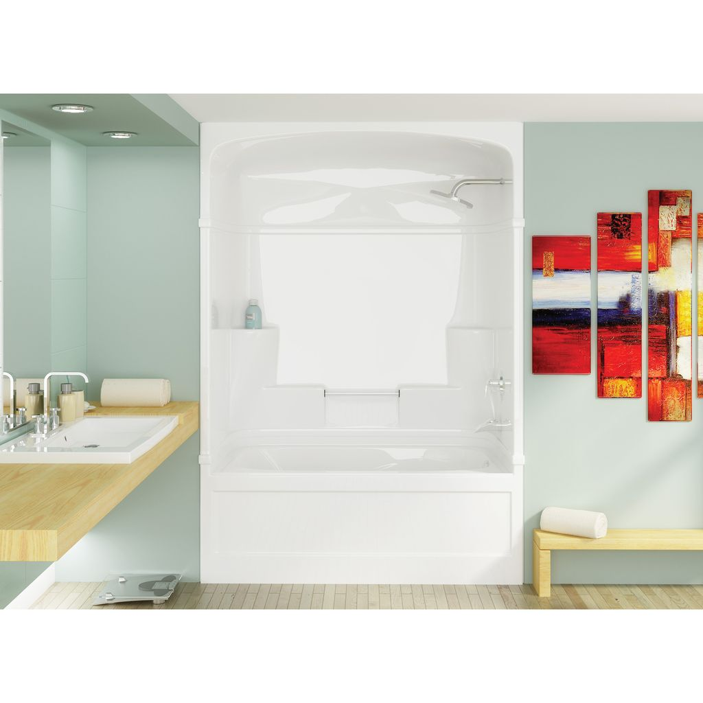 3 piece tub shower combo. Mirolin SH3R Madison 3 One Piece Shower Stall White  Home Comfort Tub Combo Enchanting Design