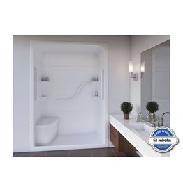 Mirolin Mirolin FS5LS/RS Madison 5 Free Living One Piece Shower Stall With Seat White