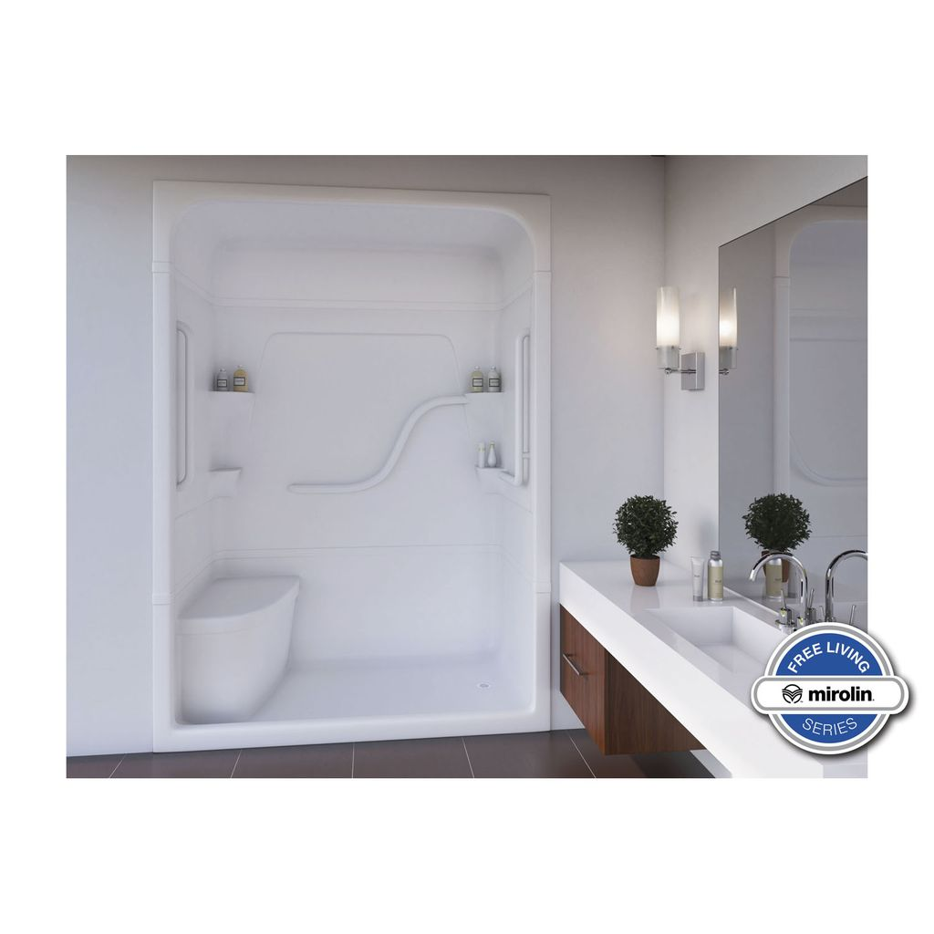 Mirolin FS5LS/RS Madison 5 Free Living One Piece Shower Stall With ...