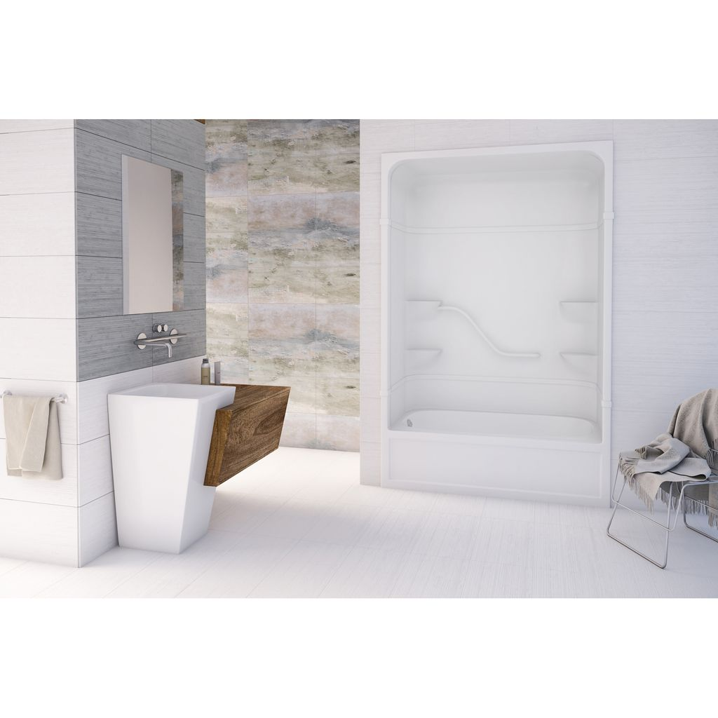 Mirolin PT516LR Parker 16 One Piece Tub Showers White - Home Comfort ...