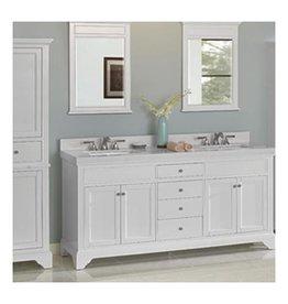 "Fairmont Designs Fairmont Designs 1502-V7221D Framingham 72"" Double Bowl Vanity Polar White"