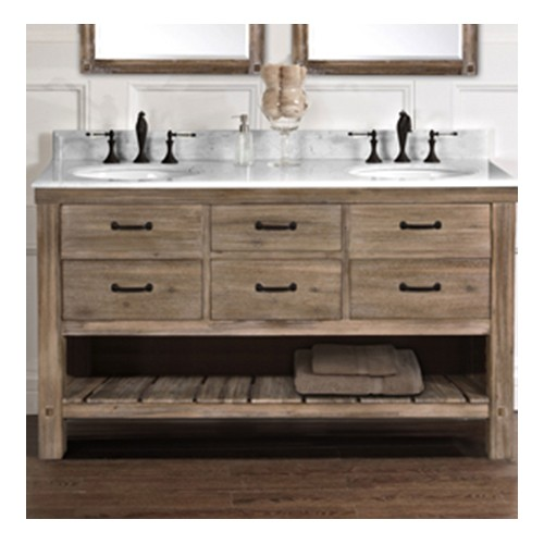 Fairmont Designs 1507 Vh6021d Napa 60 Open Shelf Double Bowl Vanity Sonoma