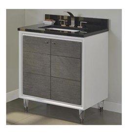 "Fairmont Designs Fairmont Designs 1531-V30 Park Central 30"" Vanity Glossy White Silvered Oak"