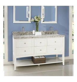 "Fairmont Designs Fairmont Designs 1512-VH6021D Shaker Americana 60"" Double Bowl Vanity Open Shelf Polar White"