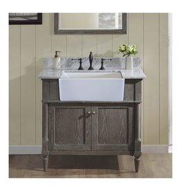 """Fairmont Designs Fairmont Designs 143-FV36 Rustic Chic 36"""" Farmhouse Vanity Silvered Oak"""