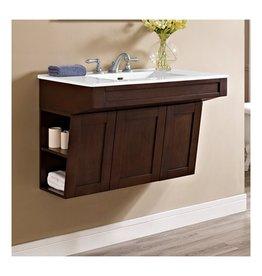 "Fairmont Designs Fairmont Designs 1513-WV3621 Shaker Americana 36"" Wall Mount Vanity Habana Cherry"
