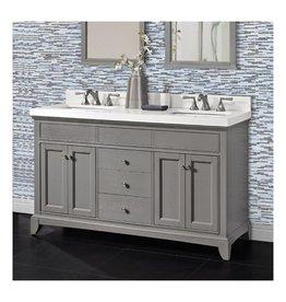 "Fairmont Designs Fairmont Designs 1504-V6021D Smithfield 60"" Double Bowl Vanity Medium Gray"