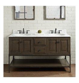 """Fairmont Designs Fairmont Designs 1401-6021D Toledo 60"""" Double Bowl Vanity Driftwood Gray"""