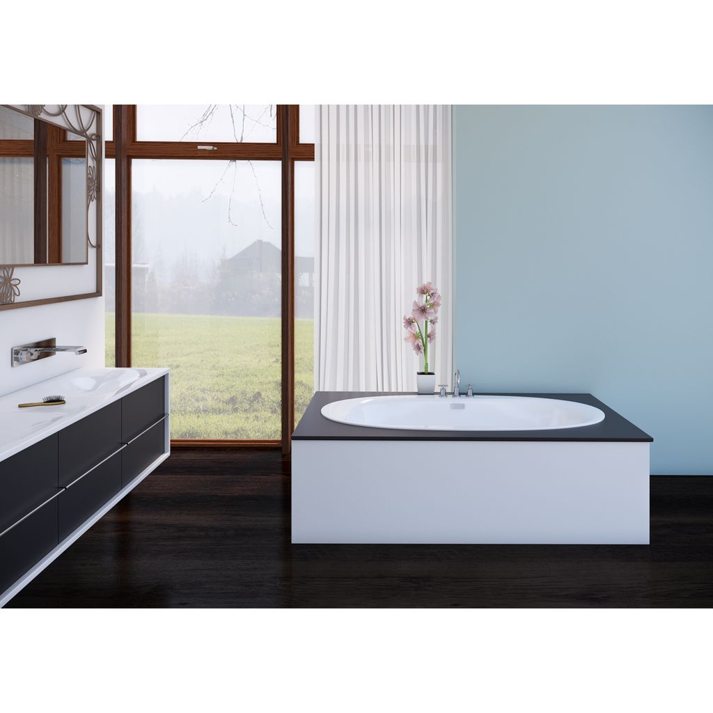 Mirolin H60421 Hudson 5 Drop In Bath White - Home Comfort Centre