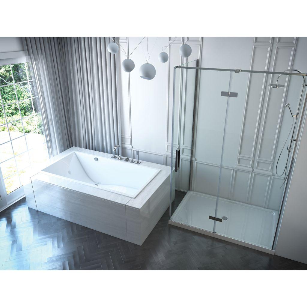 Mirolin CH6632S Chaise SlimLine Drop In Bath White - Home Comfort Centre