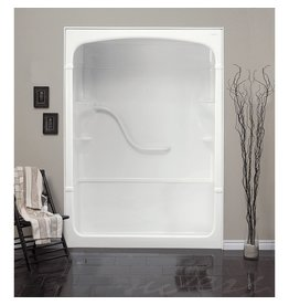 Mirolin Mirolin SH53LS/RS Madison 5 Multi Shower Stall With Seat White