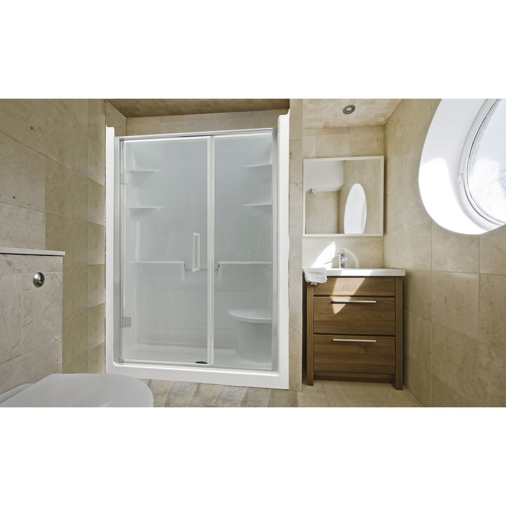 Mirolin MEL5LS/RS Melrose 5 Shower Stall With Seat White - Home ...