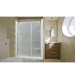 Mirolin Mirolin MEL5CLS-RS Melrose 5 Shower Stall With Seat White
