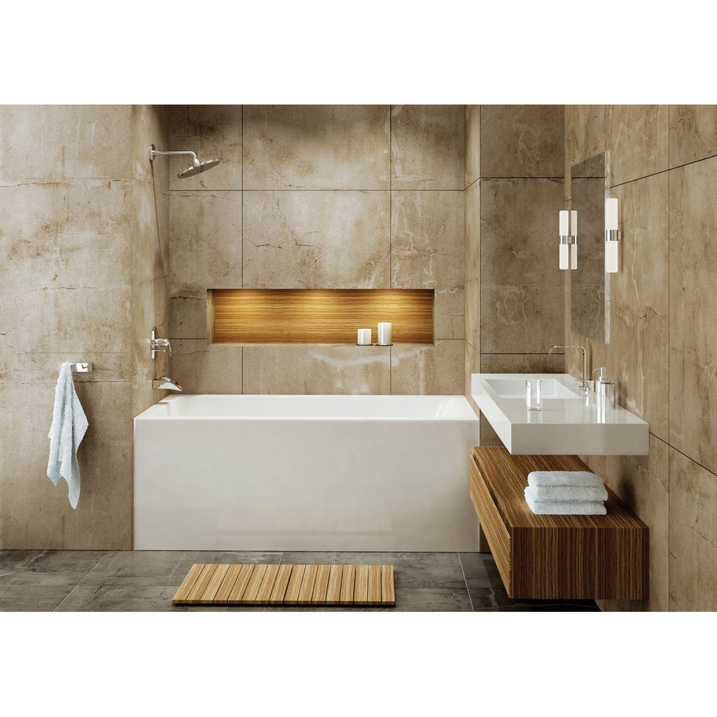 Mirolin BO62L/R Adora Skirted Bath White - Home Comfort Centre