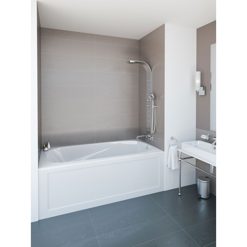 Mirolin PA7234L/R Phoenix III Skirted Bath White - Home Comfort Centre