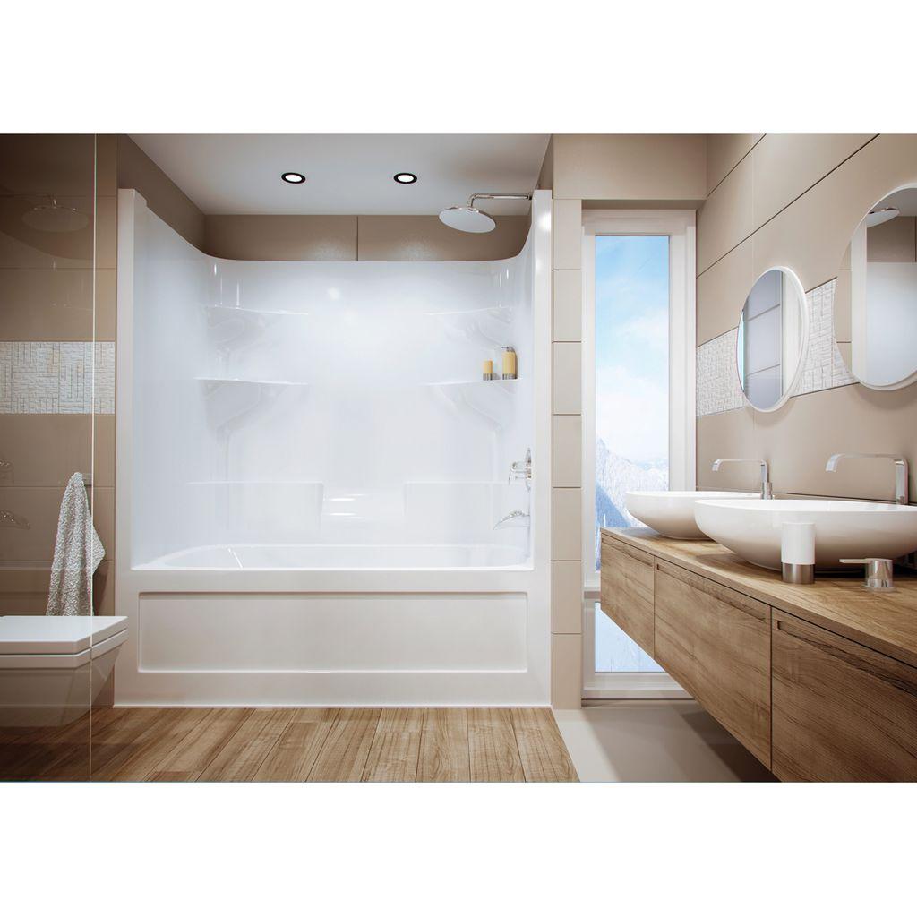 Mirolin BA604TL/R Belaire Multi Tub Shower White - Home Comfort Centre
