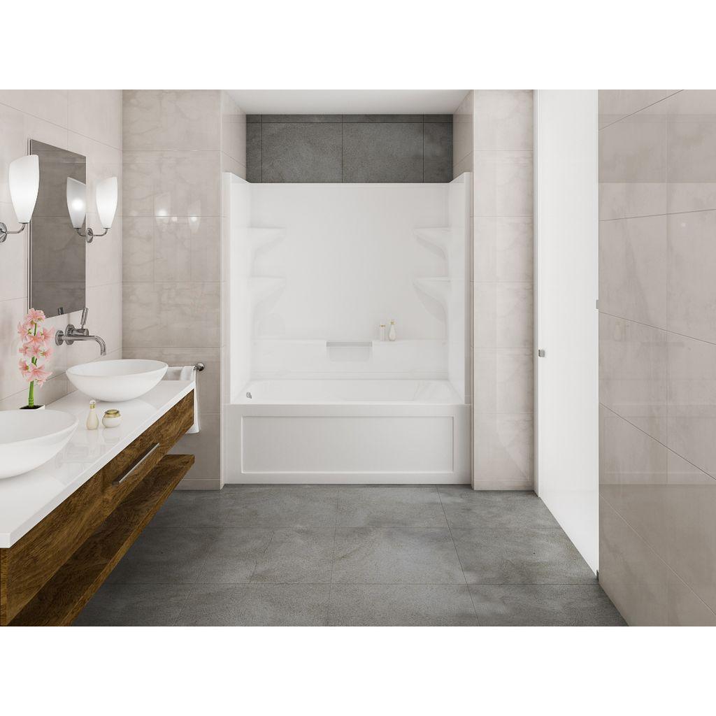 Mirolin Ba32l R Belaire 2 Tub Shower White