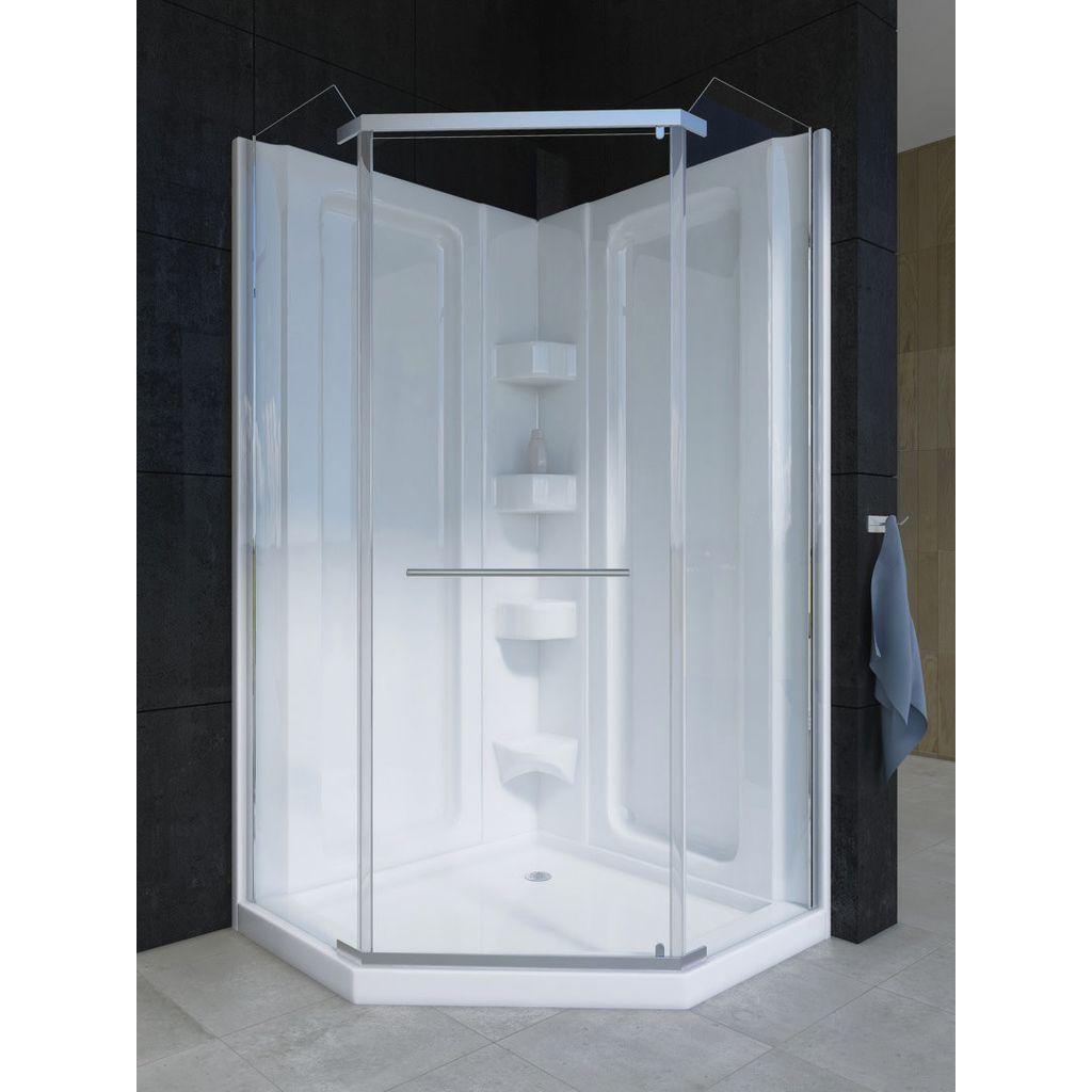 Mirolin CD38NAPS Neo Angle Door Plain Silver - Home Comfort Centre